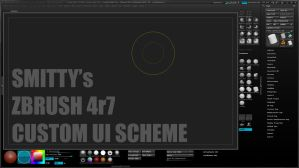 Smitty's Custom ZBrush 4r7 UI by Art-by-Smitty