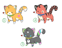 Adoptable Kittens -CLOSED- by xBlue-Lullabyx