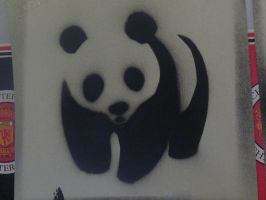 WWF Panda Stencil. by Sam--Uk--16
