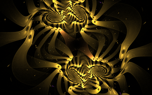 golden 3D swirls by Andrea1981G