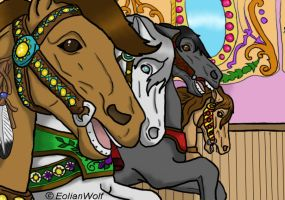 Carousel Horses by TallyBaby13