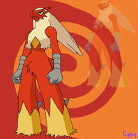 Blaziken by Gypsy-puma