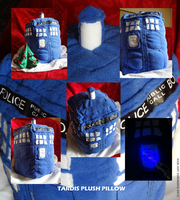 The TARDIS plush Pillow by Son-Neko