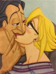 Hades and Daliah: Suprise Kiss by GabiSaKuRa