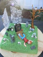 One Foot in the Grave Cake by katiesparrow1