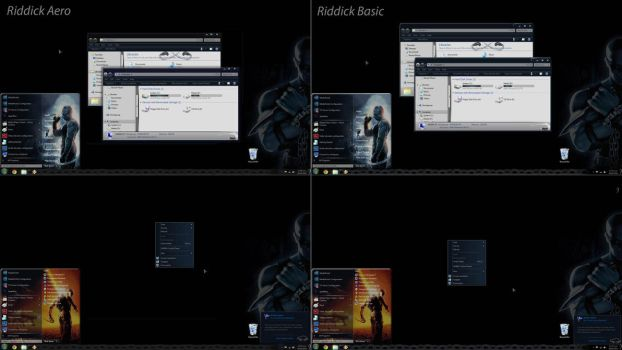 Riddick Aero+Basic Win7 Theme by Nitrium-Oxide
