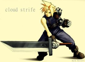 cloud strife by mbarrett