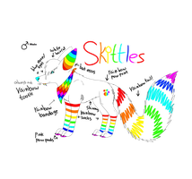 Skittles ref sheet by PawesomeSauce