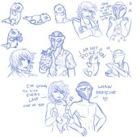 Sketches for My Bro by Yamino