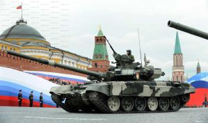 T-90 on Victory Day by ShitAllOverHumanity