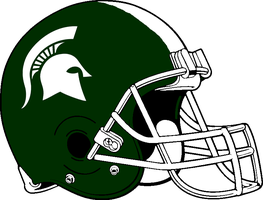 Michigan St Spartans Helmet 2010-present by Chenglor55