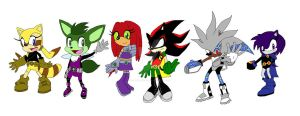 Sonic-afied Teen Titans by ColdHeartedCupid