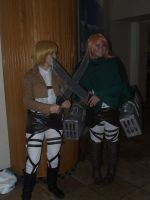 Armin and petra at ahnkon 2014 by CosplayCrazyProducti