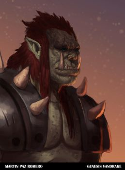 Orc collab with Martin Paz Romero by IcedEdge