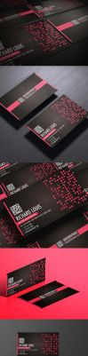 Hot pink business card design by Lemongraphic