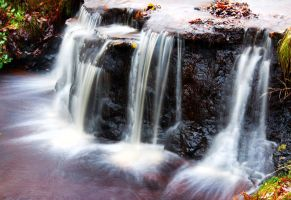 Waterfall in Autumn by BikeBoyPunk