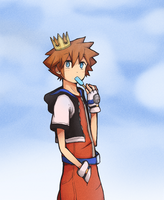 Sora's salty ice by Misaka-Chan