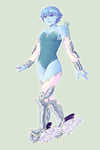 My gemsona, Moonstone!! by madobuns