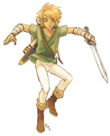 link falling or something by FastPuck