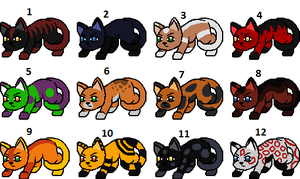 More Random Free Kitty Adopts -closed- by VampVixen