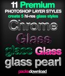 11 Premium Glass Layer Styles by Packsdownload