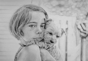 The girl with the dog by Clr8