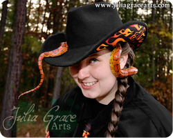 There's A Snake In My Boot... er... Hat by JuliaGraceArts