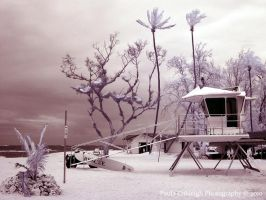 Infrared Lifeguard Tower by La-Vita-a-Bella
