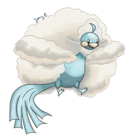 Mega Altaria: The Fluff Monster by Yanang