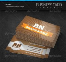 Brown Business Card by artnook