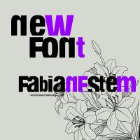 Font Fabianestem by MyFavoriteEditions