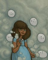 Anna and The Fog Blobs by atomicman