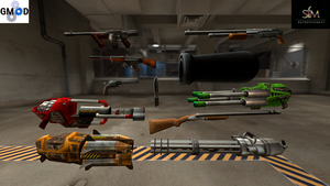 Serious Sam weapons (HD textures) by Stefano96