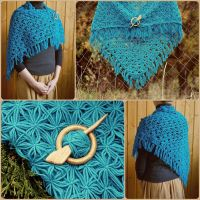 Shawl Wrap Autumn Sea by WonderfulSun