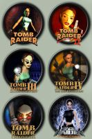 Tomb Raider 1-6 Icons by kodiak-caine
