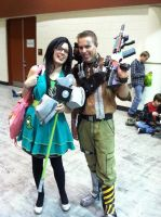 Rule 63 John Homestuck and Axton from Borderlands by onewingedjade