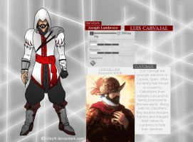 Joseph Lumbroso Assassins creed by glitchxhavoc