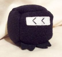 Ninja Cube Plushie by Cube-lees