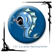 Leviathan Hatchling Button by BunnyBennett