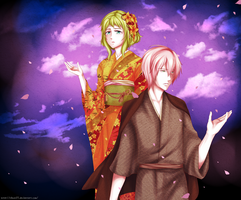 [VY2, GUMI] Under the Night Sky by Nii-hon
