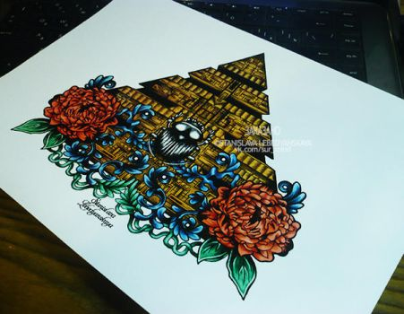 The Stylized Pyramid (with Scarab) |mature| by Stanislava-Korn