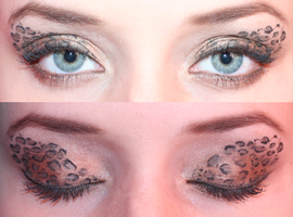 Leopard Eyeshadow Design by watermelonz