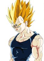 Finished Majin Vegeta Digital by Earthquake2009