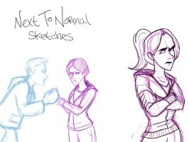 Next To Normal sketches by marbri