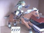 Link and epona papercraft by Marlous2604
