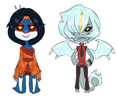 Sakana And Dominik Chibis by Forestii