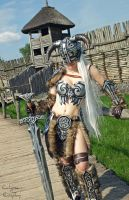 Female Dovahkiin cosplay from Skyrim by Calypsen