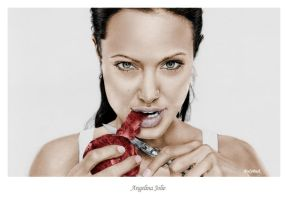 Angelina Jolie Apple Colored by FlyyPhoenix