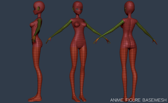 Anime Figure Basemesh by NitroxArt