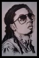 LIL WAYNE MURAL by KYLE-CHANEY
